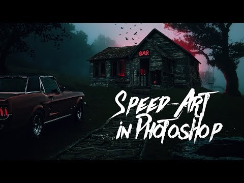 Коллаж в Photoshop ⚰️ HORROR MOVIES