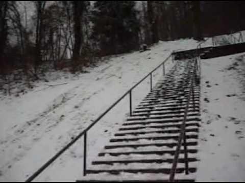 Snow day at WVU Tech- sign sledding