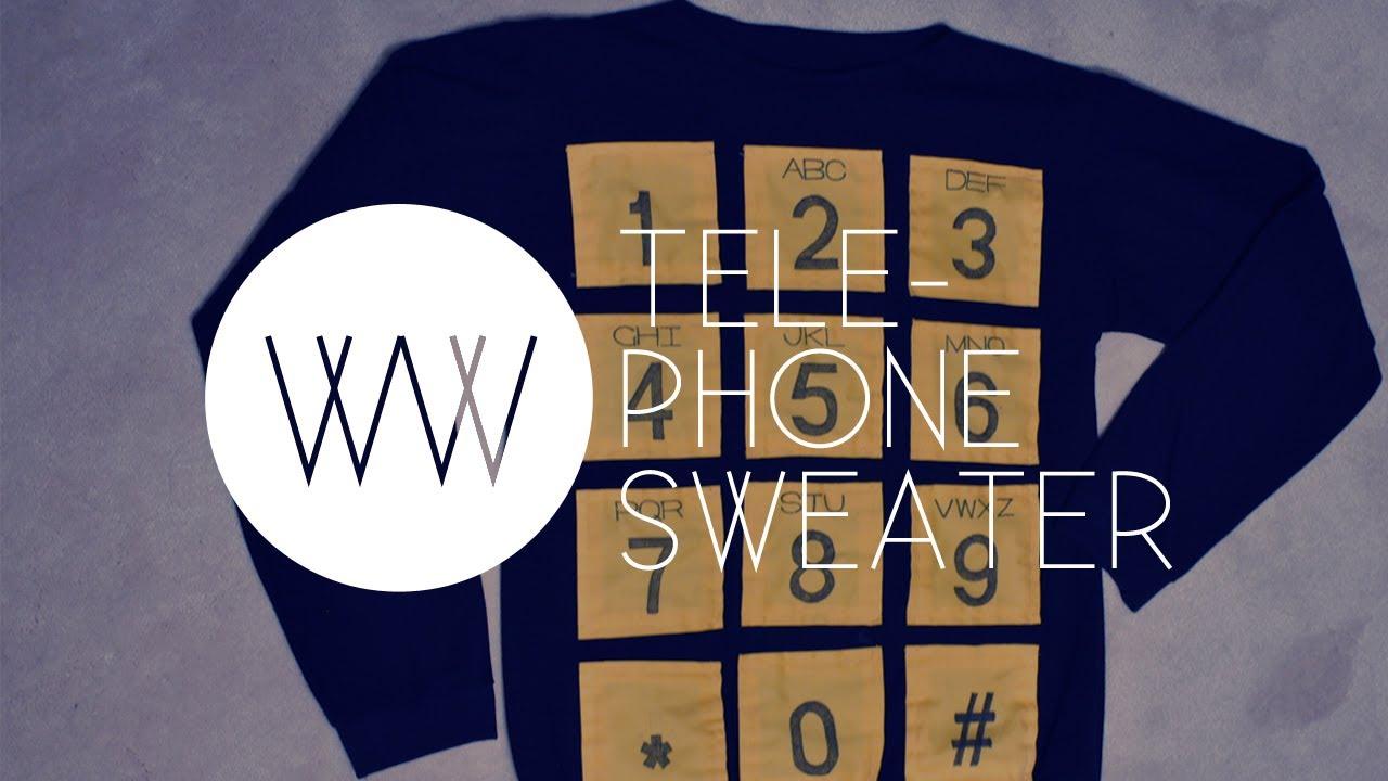 7912207bdc15 How to Make a Telephone Sweater (2NE1
