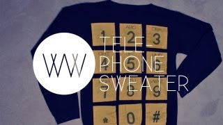 How to Make a Telephone Sweater (2NE1, Adidas, Jeremy Scott) | WITHWENDY