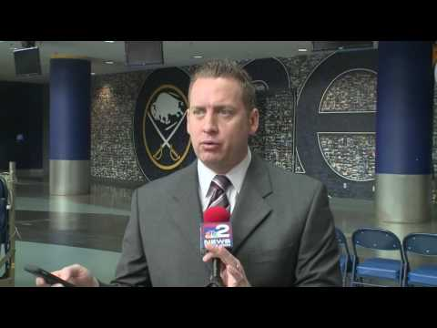 Sabres' owner Terry Pegula speaks to the media