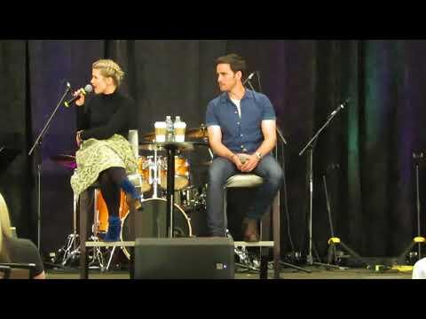 Rose Reynolds & Colin O'Donoghue OUAT Orlando 2018 Gold Panel