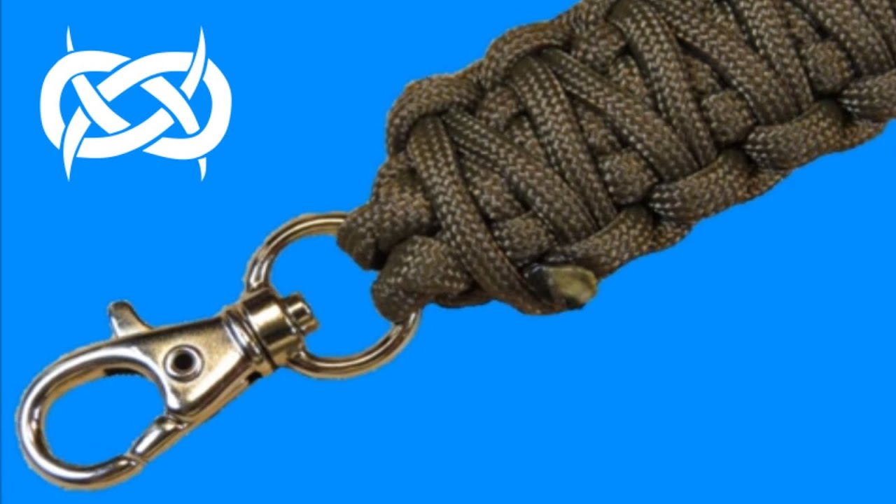 How to make a keychain paracord lanyard youtube for How to make a keychain out of paracord