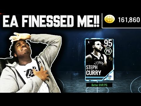 SPENDING THE REST OF MY COINS TO COMPLETE THE 95 OVR STEPH CURRY ON NBA LIVE MOBILE 18!!!