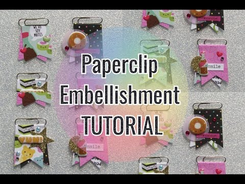 Page flag ¦ Paperclip banner ¦ Embellishment Tutorial ¦ Handmade DIY