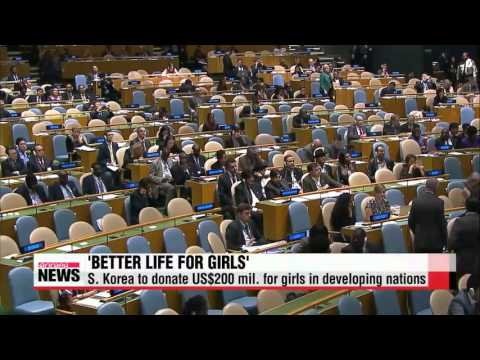 President Park pledges to donate US$200 mil. for girls in developing nations   &