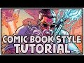Comic Book Art Style Process Tutorial - Super Easy!