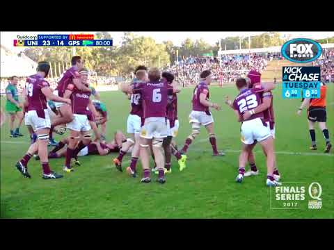 Rugby Kick and Chase - QLD Rugby Final Uni v GPS