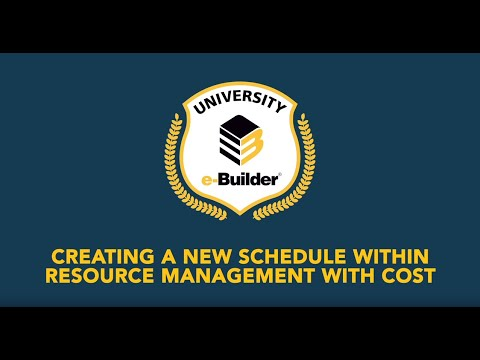 Training Videos On-Demand: Resource Management with Cost – Creating a New Schedule