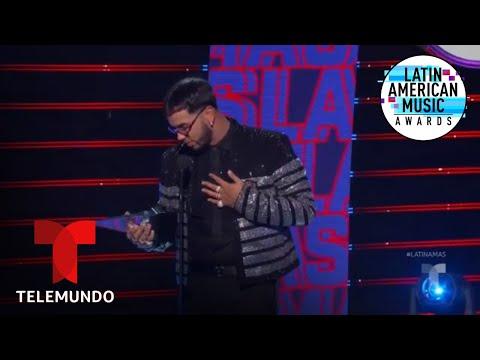 Anuel AA gana el premio Artista Favorito del Año en los Latin AMAs 2019 | Latin AMAs 2019