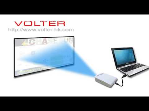 USB Projector for Laptop Presentation - YouTube
