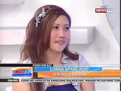 News to Go - Kara David interviews Bahrain OFW Lorna Aparejado 3/28/11