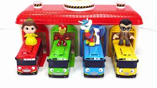 Learn Colors & Counting Tayo the Little Bus Depot and Surprise Toys!