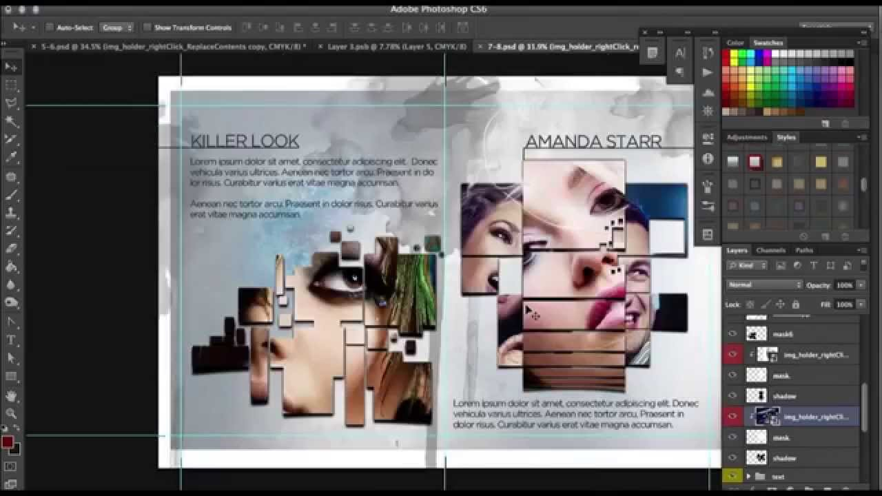 How To Design A Progessional Page Brochure In Photoshop YouTube - Brochure template photoshop