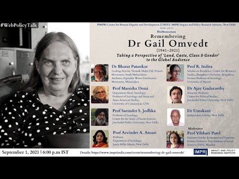 #InMemoriam | Remembering Dr Gail Omvedt | Taking a Perspective of 'Land, Caste, Class & Gender'