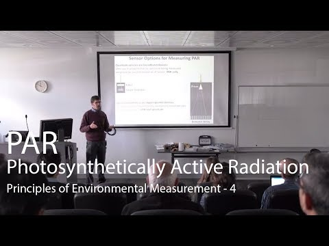 Photosynthetically Active Radiation (PAR) - Principles of Environmental Measurement Lecture 4