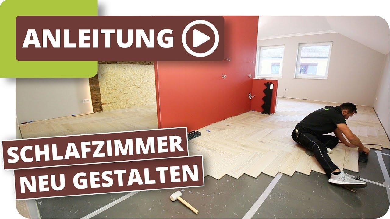 Schlafzimmer neu gestalten - Boden und Wände renovieren - YouTube