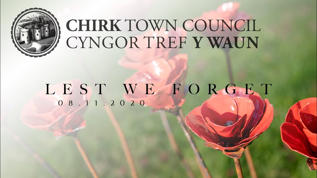 CHIRK REMEMBRANCE SUNDAY 2020