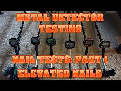 Metal Detecting:  Nail Tests - Part 1 - Elevated Nails