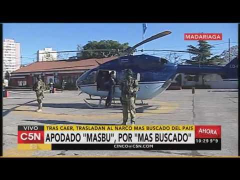 En medio de un fuerte operativo de seguridad trasladaron a Monchi Cantero a Rosario