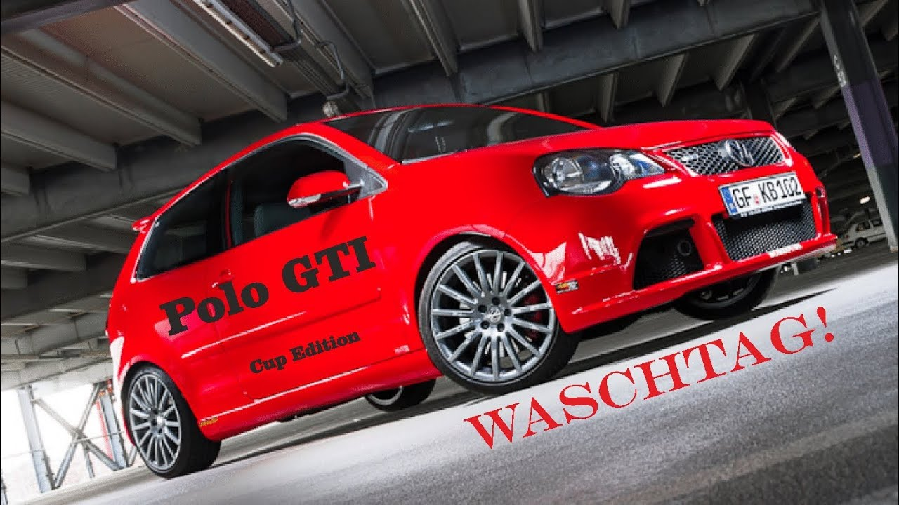 vw polo gti cup edition waschtag youtube. Black Bedroom Furniture Sets. Home Design Ideas