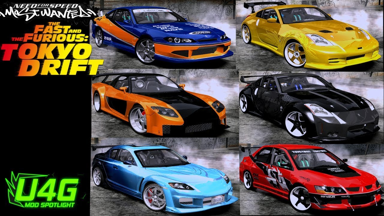 fast and furious tokyo drift cars need for speed most wanted 2005 mod spotlight youtube. Black Bedroom Furniture Sets. Home Design Ideas