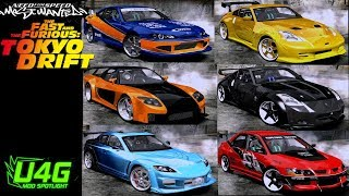 Fast and Furious Tokyo Drift cars Need For Speed Most Wanted 2005 Mod Spotlight