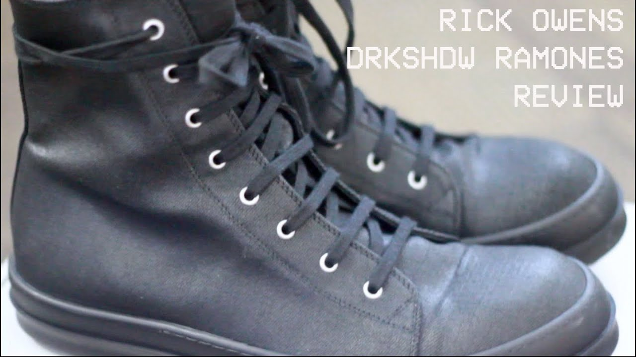 Rick Owens DRKSHDW Ramones Review - YouTube a8628aedb