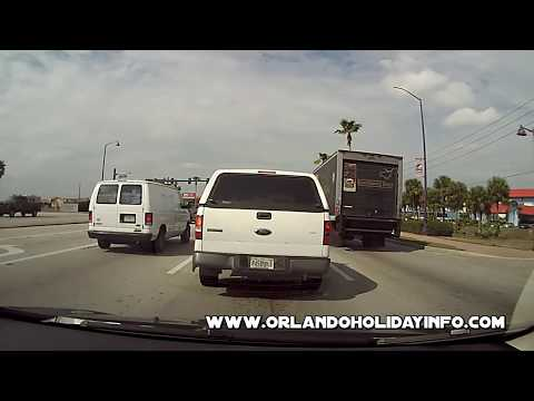 Driving on US 192 Kissimmee Orlando Florida (720 HD)