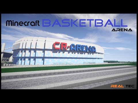 how to build a basketball stadium in minecraft
