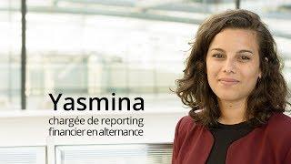 Yasmina, chargée de reporting financier en alternance à CACEIS