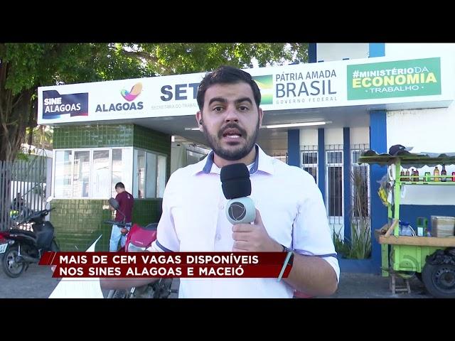 Sines estadual e municipal ofertam 250 vagas de empregos