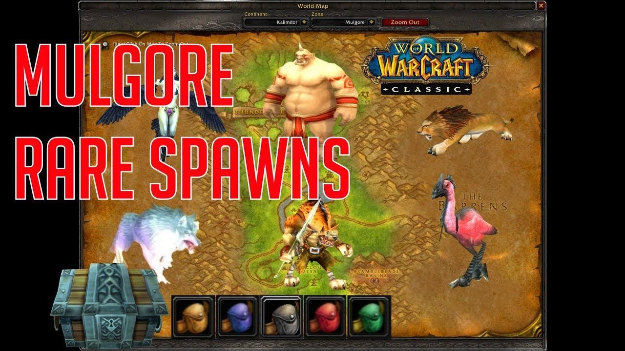 Classic Vanilla Wow Rare Spawns Mulgore World Of Warcraft Youtube