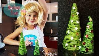 Choinka ze sznurka - sposób na świąteczną dekorację!