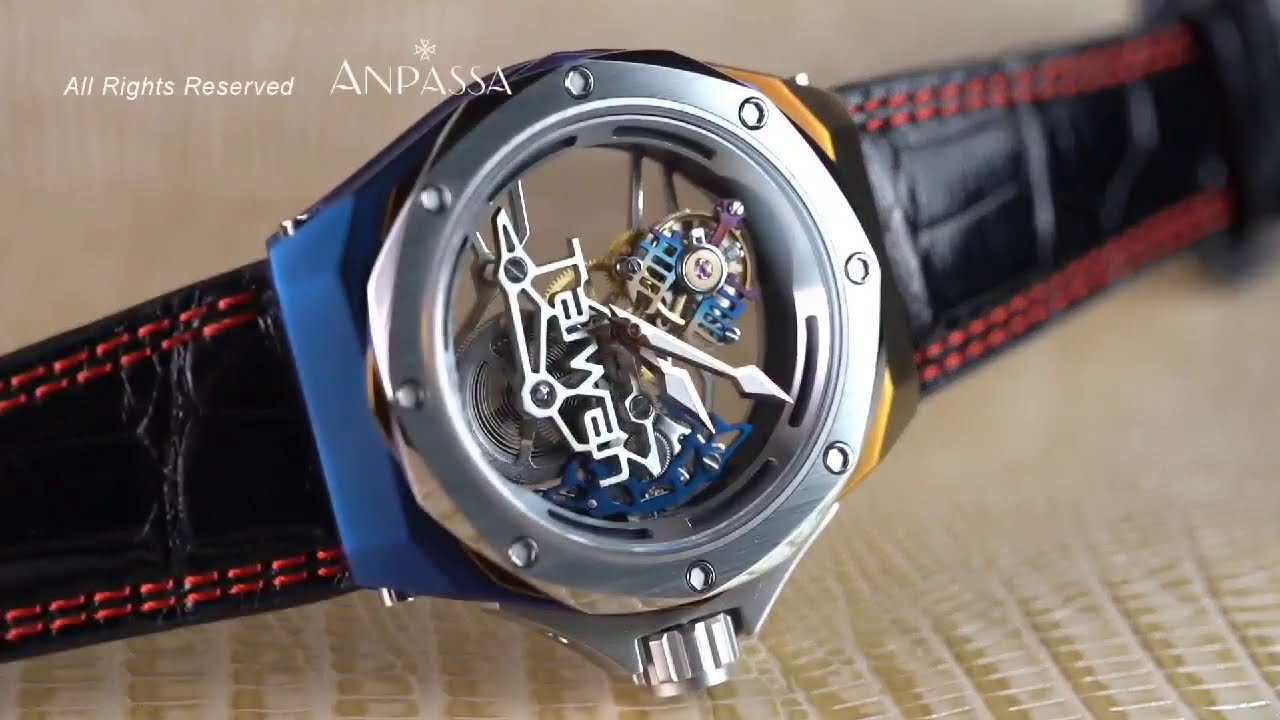 """World's first tourbillon made with Chinese characters"" 【全球首枚採用中文字製成的陀飛輪】"