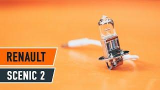 Como substituir uma lâmpada de farol de nevoeiro no RENAULT SCENIC 2 [TUTORIAL]