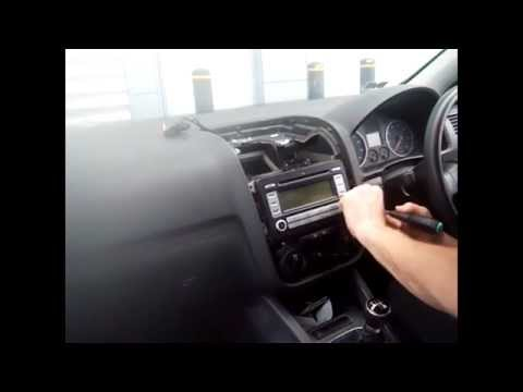 radio removal volkswagen golf 2006 2010 justaudiotips. Black Bedroom Furniture Sets. Home Design Ideas