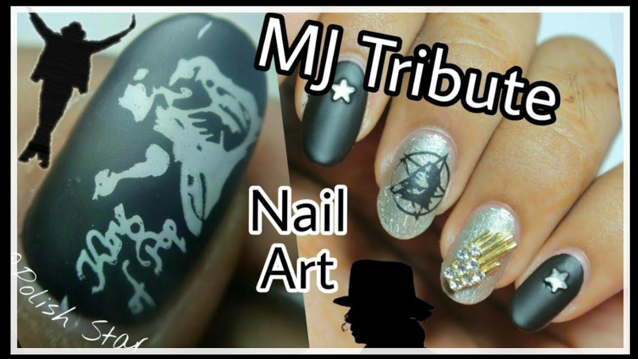 Michael jackson tribute nail art polish star youtube michael jackson tribute nail art polish star prinsesfo Gallery