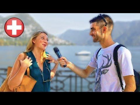 Cosa gli SVIZZERI pensano degli ITALIANI ? Domande a Lugano - thepillow