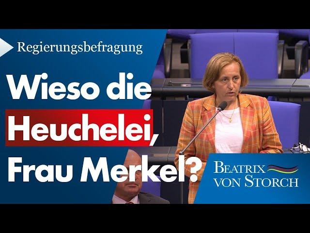 Beatrix von Storch (AfD) - Merkel zerstört Europa!