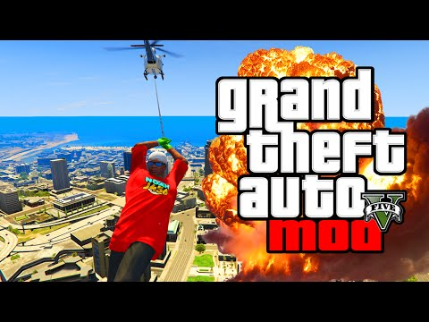 GTA 5 PC Mods - BEST GRAPPLE HOOK MOD! GTA 5 Mod Grapple Flying Spiderman Gameplay! (GTA V PC Mods)