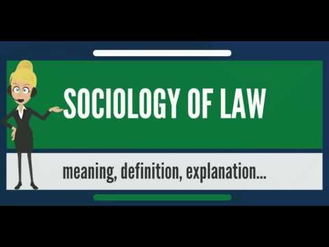 What is SOCIOLOGY OF LAW? What does SOCIOLOGY OF LAW mean? SOCIOLOGY OF LAW meaning
