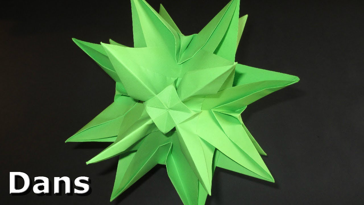 How to Fold a small iambic icosahedron origami star for Christmas ... | 720x1280