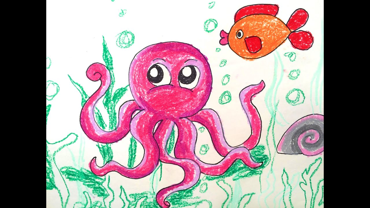 painting animals for kids how to draw octopus for kids how to paint octopus art for kids youtube
