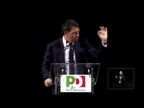Matteo Renzi al decimo anniversario del Partito Democratico
