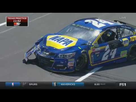 Monster Energy NASCAR Cup Series 2017. FP1 Texas Motor Speedway. Erik Jones Crash