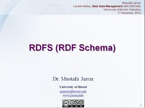 RDFs - RDF Schema