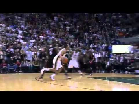 Devin Harris Crazy Game Winner Shot and Foul (Heat - 3/2/12)