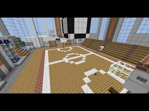 Tutorial minecraft basketball court large scale doovi for Build a basketball court