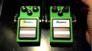 Vintage Ibanez TS9 vs New Ibanez TS9 Tube Screamer
